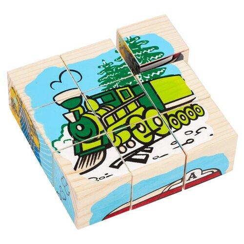 Кубики-пазлы Томик Транспорт 4444-1 томик кубики алфавит с цифрами