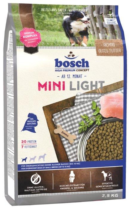Корм для собак Bosch Light 2.5 кг (для мелких пород)