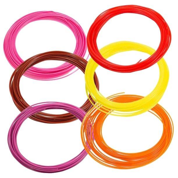 Набор №5 PLA прутков для 3D ручки PrintProduct 1.75 мм 6 цветов