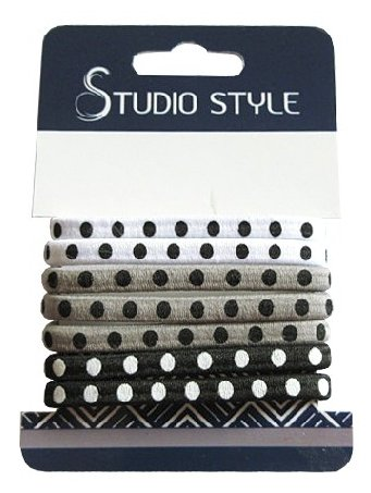 Резинка Studio Style в горох (45890-4411) 8 шт.