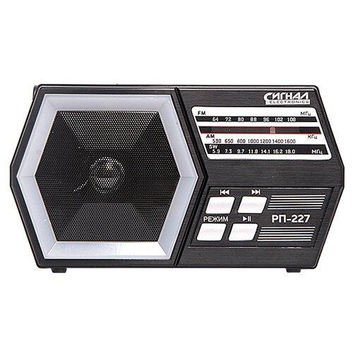 Фото - Радиоприемник СИГНАЛ ELECTRONICS РП-227 черный радиоприемник сигнал electronics рп 227