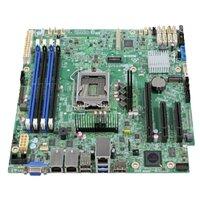 Intel Серверная материнская плата S1200SPLR, C236, Socket 1 E3-1200 v5 v6 Family, uATX, Pedestal DBS1200SPLR Silver Pass
