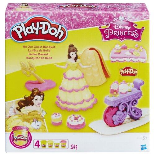 Купить Масса для лепки Play-Doh Банкет Белль (B9406), Пластилин и масса для лепки