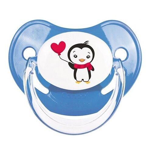 Купить Пустышка силиконовая ортодонтическая Canpol Babies Penguin 6-18 м (1 шт) синий, Пустышки и аксессуары