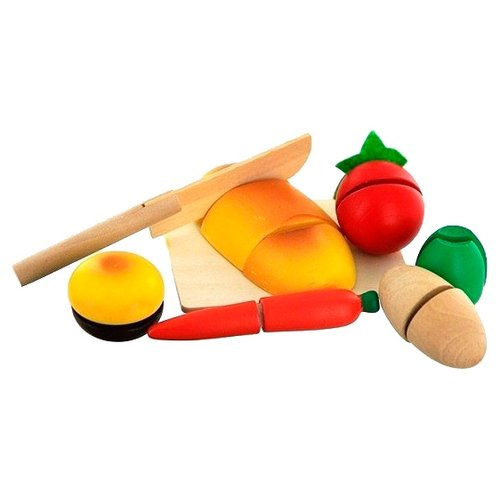 Купить Набор продуктов с посудой Mapacha Маленький кулинар 76600 разноцветный, Игрушечная еда и посуда