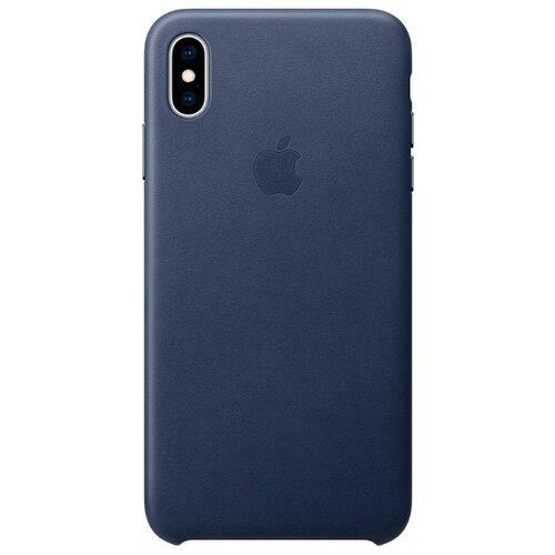 цена на Чехол Apple кожаный для Apple iPhone XS Max темно-синий