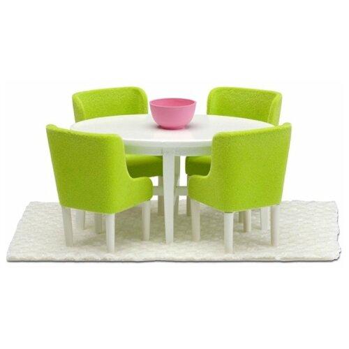 Купить Lundby Набор мебели для столовой Смоланд (LB_60209000) салатовый/белый, Мебель для кукол