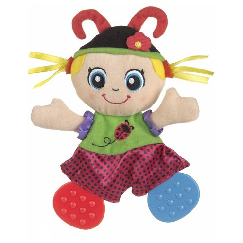 Купить Прорезыватель Playgro Lulu Ladybird Teething Blankie красный/голубой, Погремушки и прорезыватели