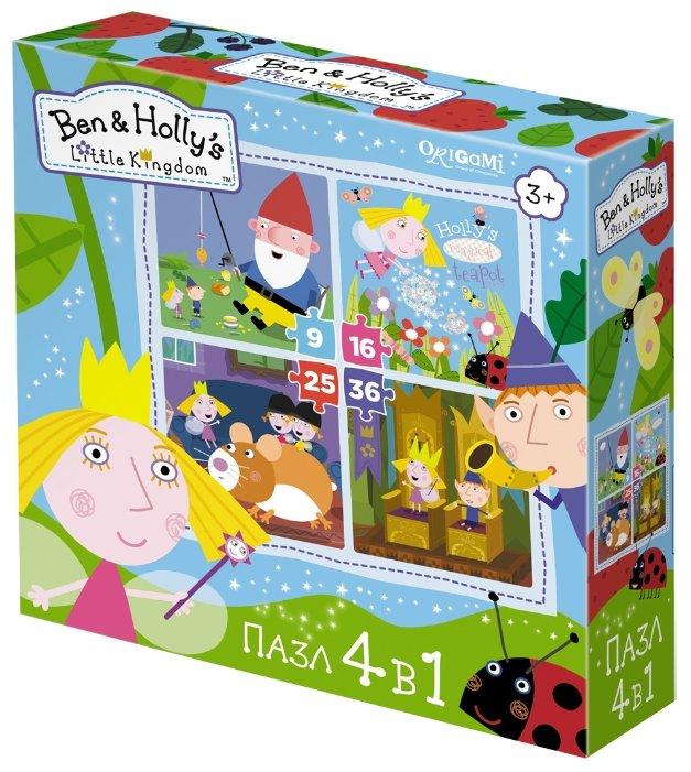 Набор пазлов Origami Ben & Holly's Little Kindom В королевстве 4 в 1 (02993)