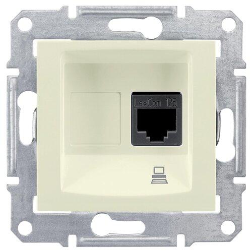 Розетка для интернета / телефона RJ45 Schneider Electric SEDNA SDN4300147, бежевыйРозетки, выключатели и рамки<br>