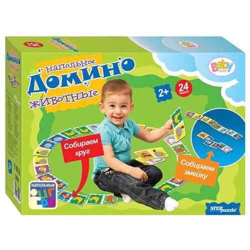 Настольная игра Step puzzle Напольное домино Животные (Baby Step) настольная игра step puzzle домино disney тачки 80107