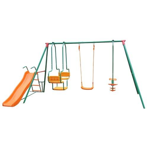 Купить Спортивно-игровой комплекс DFC MSGL-01 зеленый/оранжевый, Игровые и спортивные комплексы и горки