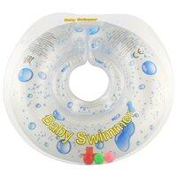 Круг на шею Baby Swimmer 0m+ (6-36 кг) с погремушкой прозрачная капелька
