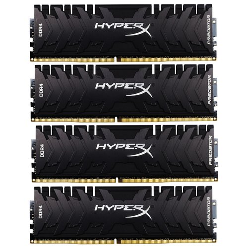 Купить Оперативная память HyperX Predator DDR4 3000 (PC 24000) DIMM 288 pin, 16 ГБ 4 шт. 1.35 В, CL 15, HX430C15PB3K4/64