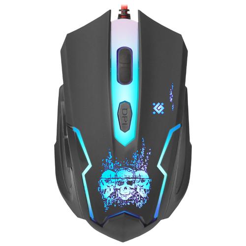 Мышь Defender Skull GM-180L Black USB мышь defender witcher gm 990 black