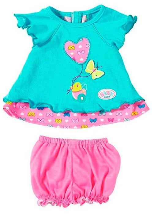 Zapf Creation Baby born Туника розовая с голубыми шортиками 823-552
