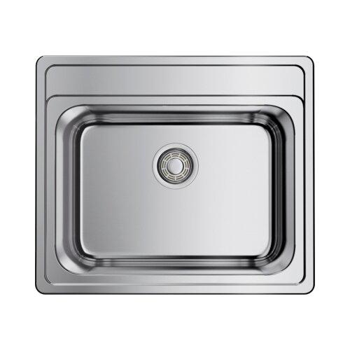 Фото - Врезная кухонная мойка 56 см OMOIKIRI Ashi 56-IN нержавеющая сталь врезная кухонная мойка 77 см omoikiri kasumigaura 77 in 4993728 нержавеющая сталь