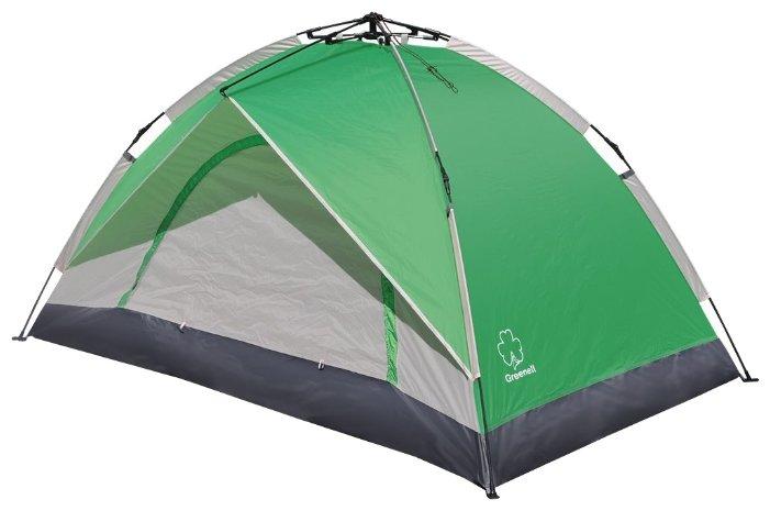 Палатка Greenell Коул 2 зеленый/светло-серый