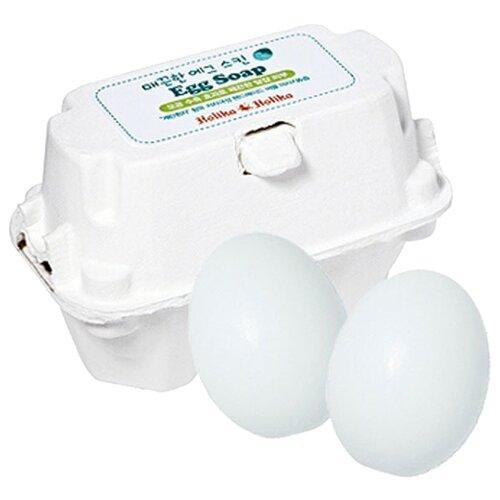 Фото - Holika Holika мыло-маска Egg Soap с яичным белком, 50 г, 2 шт. holika holika egg soap green tea мыло маска с зеленым чаем 50 г 2 холика холика