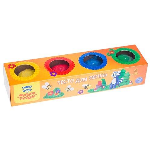 Купить Масса для лепки Мульти-Пульти Енот на пасеке 4 цвета (ТЛ_13469), Пластилин и масса для лепки