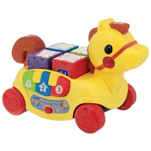 Купить Интерактивная развивающая игрушка VTech Обучающий пони желтый, Развивающие игрушки
