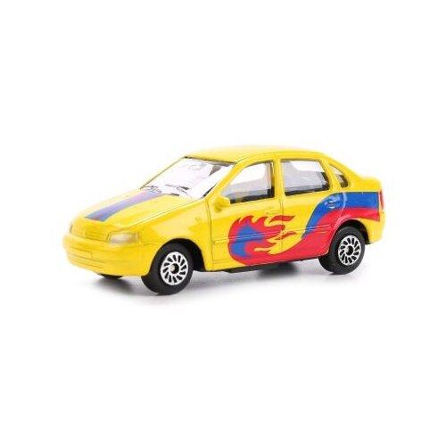 Купить Набор машин ТЕХНОПАРК Lada Sport (SB-16-79WB(3 PAK)) 7.5 см синий/желтый/красный, Машинки и техника