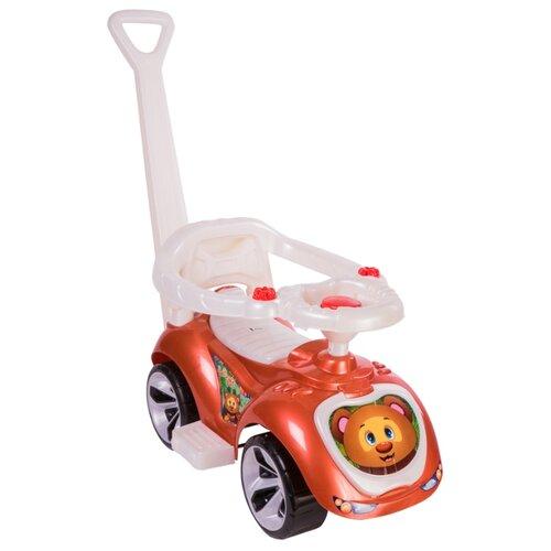 Купить Каталка-толокар Orion Toys Лапка (809) со звуковыми эффектами коричневый, Каталки и качалки