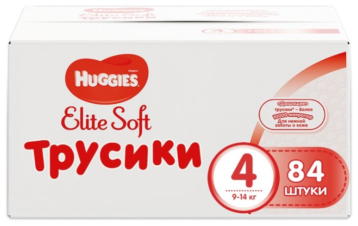 Huggies Elite Soft трусики 4 (9-14 кг) 84 шт.