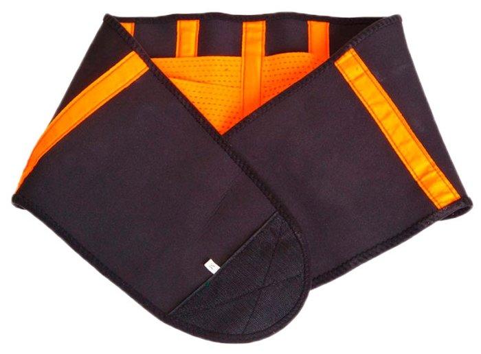 Пояс для похудения BRADEX Вулкан про L черно-оранжевый