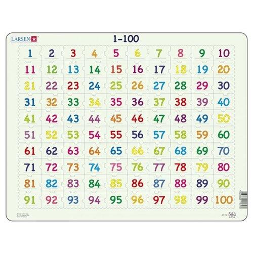 Купить Рамка-вкладыш Larsen Математика Счет от 1 до 100 (AR10), 100 дет., Пазлы