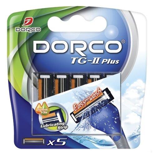 Сменные лезвия Dorco TG-II Plus , 5 шт.Бритвы и лезвия<br>