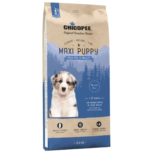 Chicopee (15 кг) Classic Nature Line Maxi Puppy Poultry and Millet Корма для собак