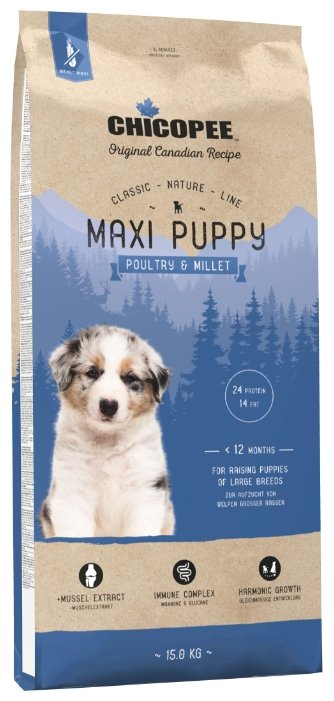 Корм для собак Chicopee Classic Nature Line Maxi Puppy Poultry and Millet