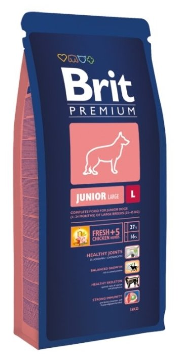 Корм для щенков Brit Premium курица 15 кг (для крупных пород)