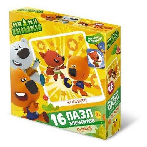 Пазл Origami Мимимишки Играем вместе (03499), 16 дет. пазл origami мимимишки напольная азбука 4235 32 дет