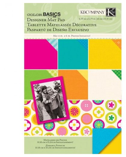 Подложка K&Company 12х17 см, 18 листов, Основные цвета