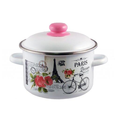 Кастрюля Appetite Париж 2 л, белый/розовый