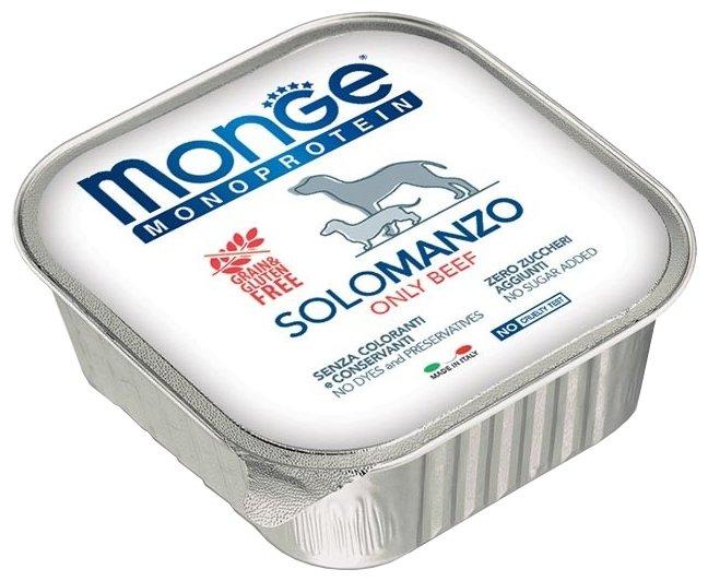 Корм для собак Monge Monoproteico Solo – Монобелковый паштет для собак из говядины