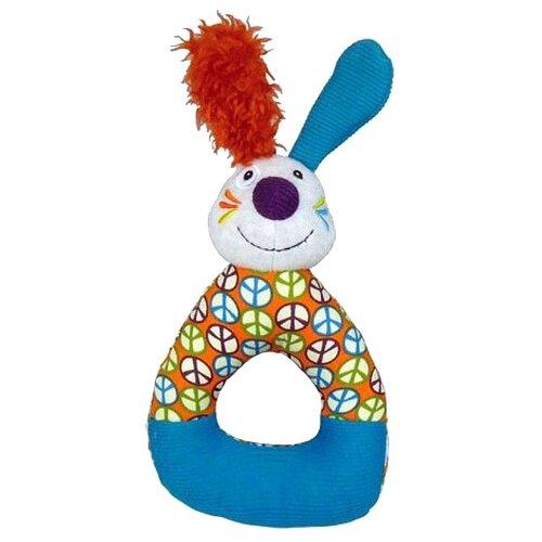 Погремушка Ebulobo Кролик Джеф E30034 голубой/оранжевыйПогремушки и прорезыватели<br>