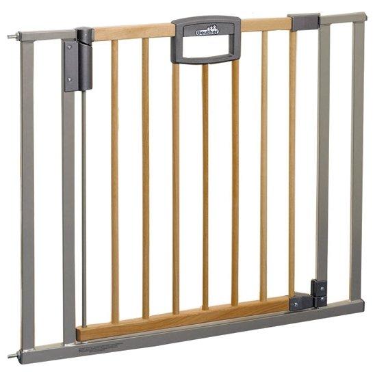 Geuther Ворота безопасности Easy Lock Wood 80,5 - 88,5 см