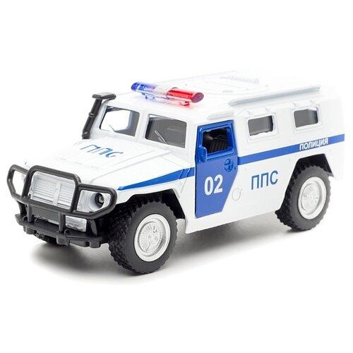 Внедорожник ТЕХНОПАРК ГАЗ 2330 Тигр ППС (X600-H09053-R) 1:43 12 см белый легковой автомобиль технопарк электокар x600 h09225 r 10 см черный белый