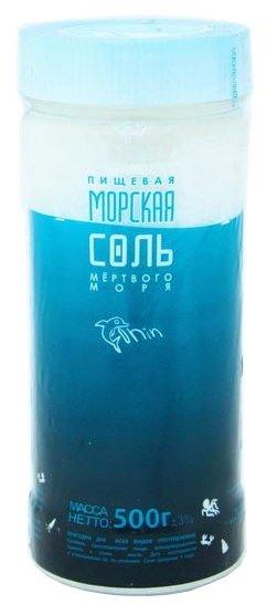 Зимушка-краса Соль морская пищевая Мертвого моря, пластиковая банка, 500 г