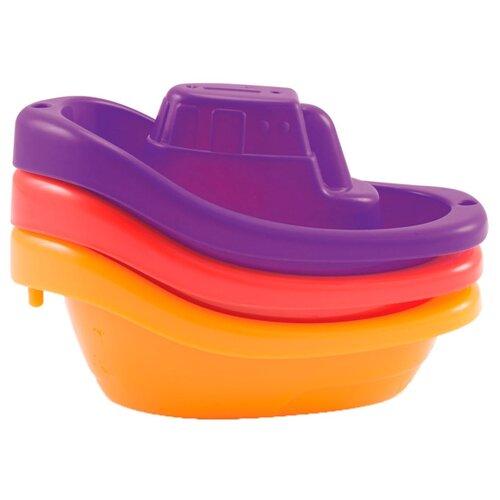 Купить Набор для ванной Munchkin Лодочки (12006) красная/оранжевая/фиолетовая, Игрушки для ванной
