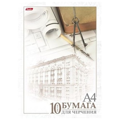 Купить Папка для черчения Hatber Архитектура 29.7 х 21 см (A4), 190 г/м², 10 л., Альбомы для рисования