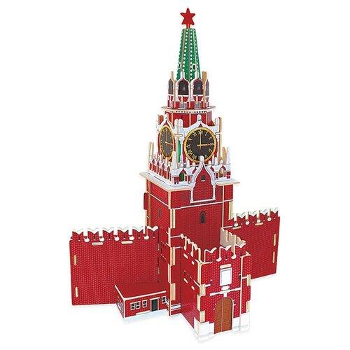 3D-пазл ГеоДом 3D Кремль Спасская башня (4607177454894), 73 дет. брошь спасская башня