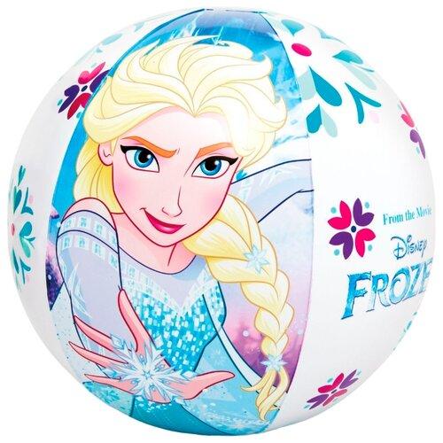 Мяч пляжный Intex Холодное сердце 58021 белый/синийНадувные игрушки<br>