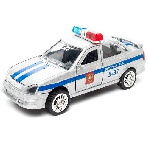 Легковой автомобиль ТЕХНОПАРК Lada Priora Дежурная часть (CT12-440-3) 1:43 12 см серебристый