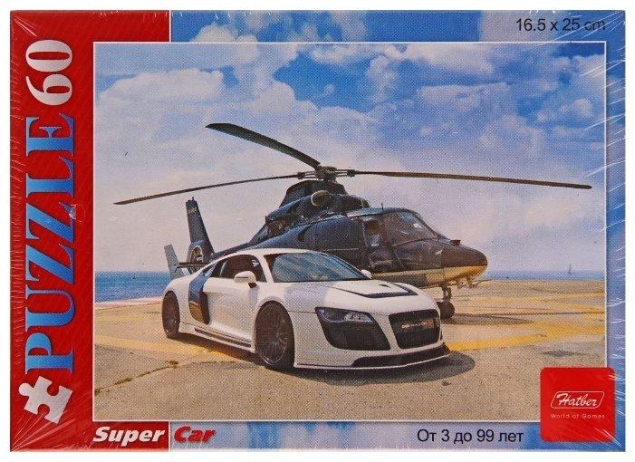 Пазл Hatber Вертолет и гонка (60ПЗ5_11633), 60 дет.