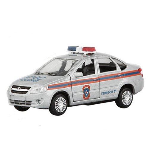 Купить Легковой автомобиль Autogrand Lada Granta МЧС (33954) 1:36, серебристый/оранжевый/синий, Машинки и техника