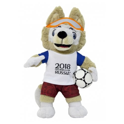 цена на Мягкая игрушка 1 TOY FIFA-2018 Волк Забивака 33 см
